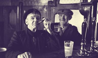 old men drinking